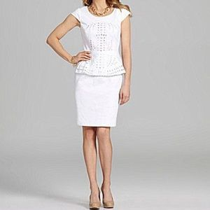 Antonio Melani Cap-sleeve Peplum Dress